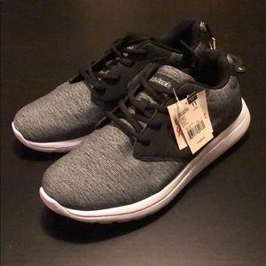 Athletech Sneakers Woven Black & Gray, Size 11 M